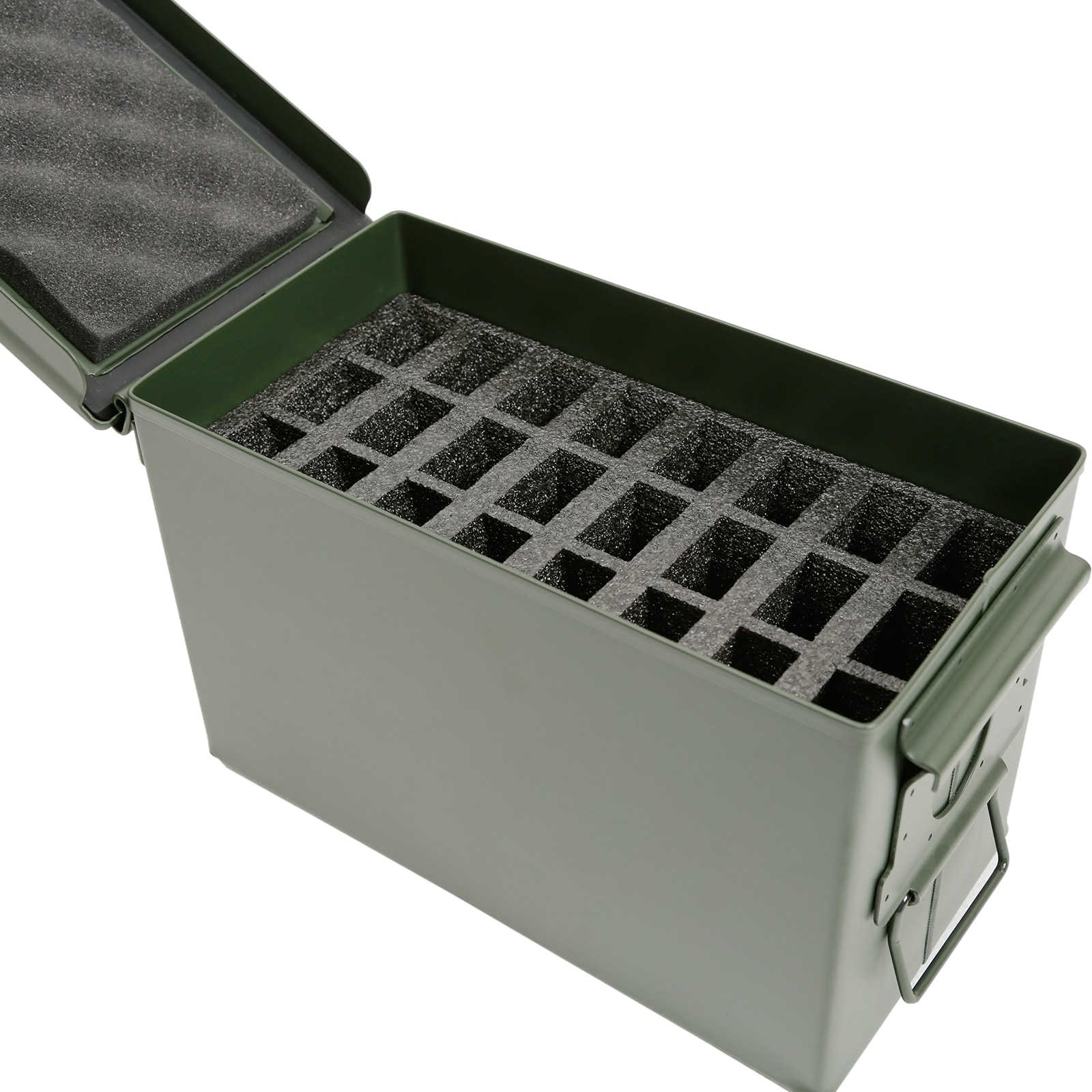 .50 Cal Ammo Can 24 Pistol Magazine Holder Foam - Insert for Steel 50 Caliber Ammunition Box (M2A1) - Replaces Gun Clip Pouch