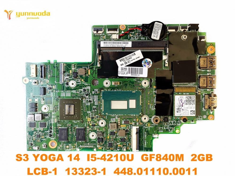 الأصلي لينوفو S3 اليوغا 14 اللوحة المحمول I5-4210U GF840M 2GB LCB-1 13323-1 448.01110.0011 اختبار جيد شحن مجاني