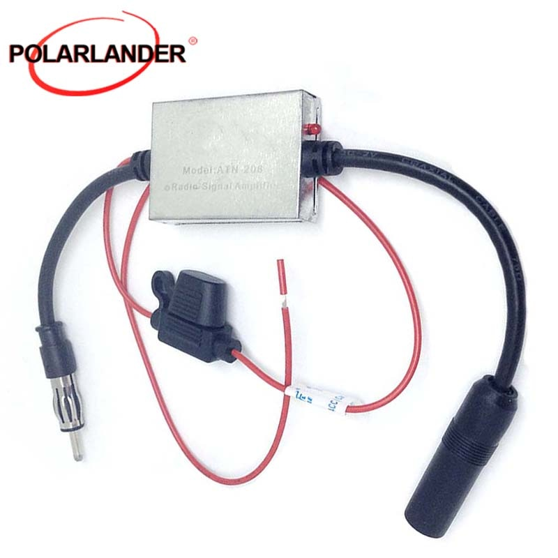 Car Antenna FM AM Signal Amplifier Anti-interference Metal Universal 12V-24V Auto Car Radio Aerials ANT-208 GPS Navi Amplifier