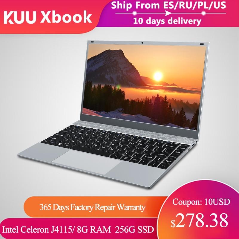 Laptop KUU XBook, 14.1'' FHD (1.920x1.080) IPS, Intel Celeron J4115, 8GB RAM, 256GB/512GB SSD, Ultra HD Graphics 600, Windows 10
