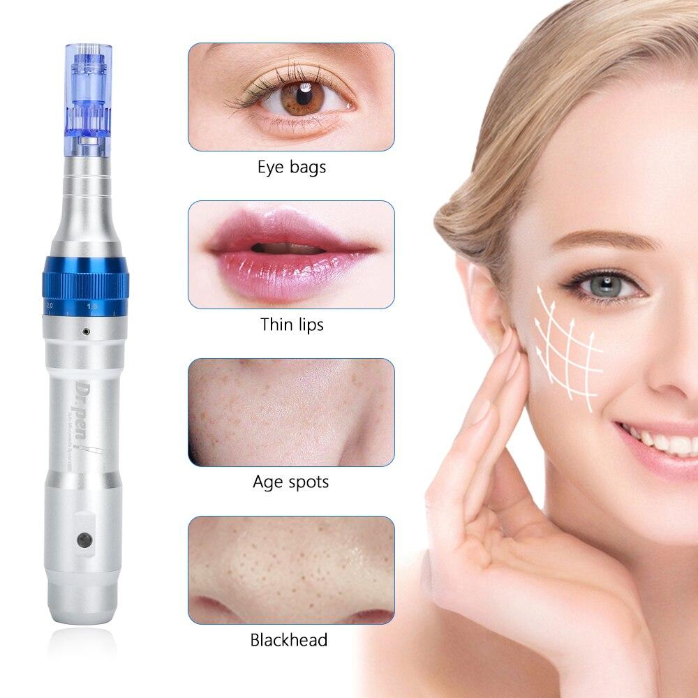 Profesional Ultima Dr Pen A6 permanente Microblading tatuaje agujas Derma pluma eliminación de cicatriz de acné microaguja cuidado de la piel herramienta de belleza