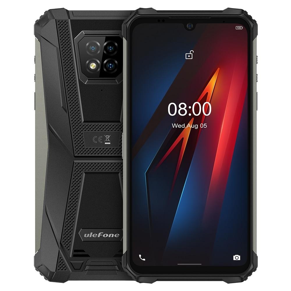 Ulefone-هاتف ذكي Armor 8, هاتف Ulefone Armor 8 IP68 هاتف ذكي متين 4 + 64 جيجابايت مقاوم للماء هاتف محمول 6.1 بوصة شاشة أندرويد 10 Helio P60 ثماني النواة NFC كاميرا 16 ميجا...
