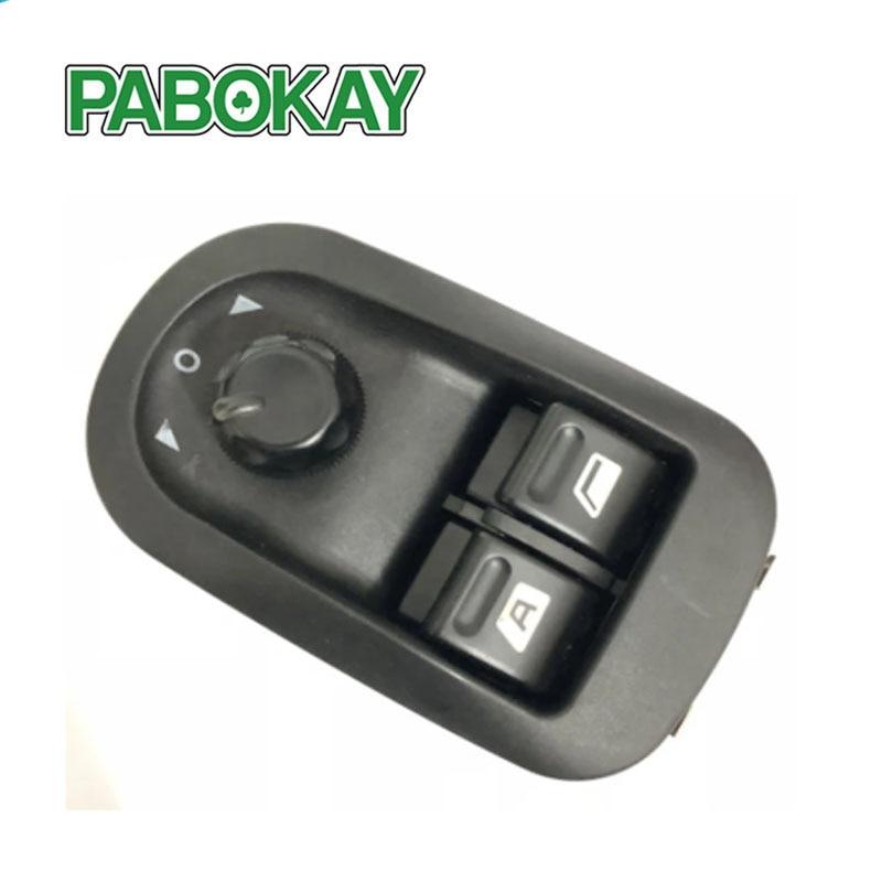 6554.WA 6554WA LHD interruptor elevador eléctrico de energía para ventana maestra, Panel de botones para Peugeot 206 207 306 Citroen Jumpy C2