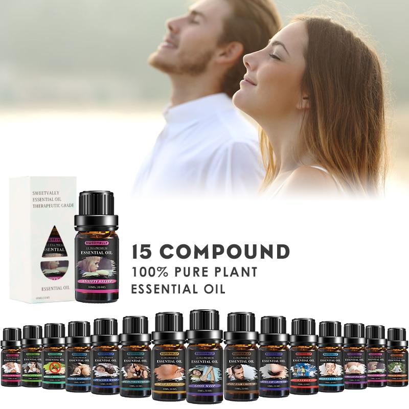 Sweetvally 10ML Pain & Stress Relief Organic Active Cbd Oil Drops Help Sleep Herbal Essence Skin Care Body Massage Oil
