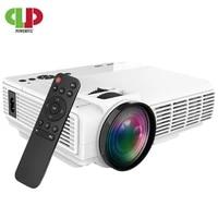 Mini projecteur LED 2600Lumens  Support 1080P  affichage synchronise sans fil  pour telephone iPhone Android  pour Home cinema