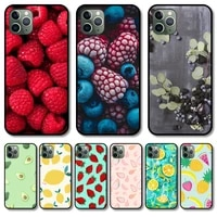 fruit phone case cover for iphone 12 pro max 11 8 7 6 s xr plus x xs se 2020 mini black cell shell