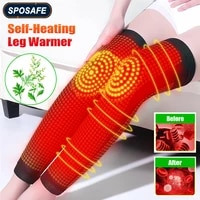 1pair wormwood self heating leg knee sleeves leg warmer brace pads for men women elderly rheumatism joint pain relief recovery