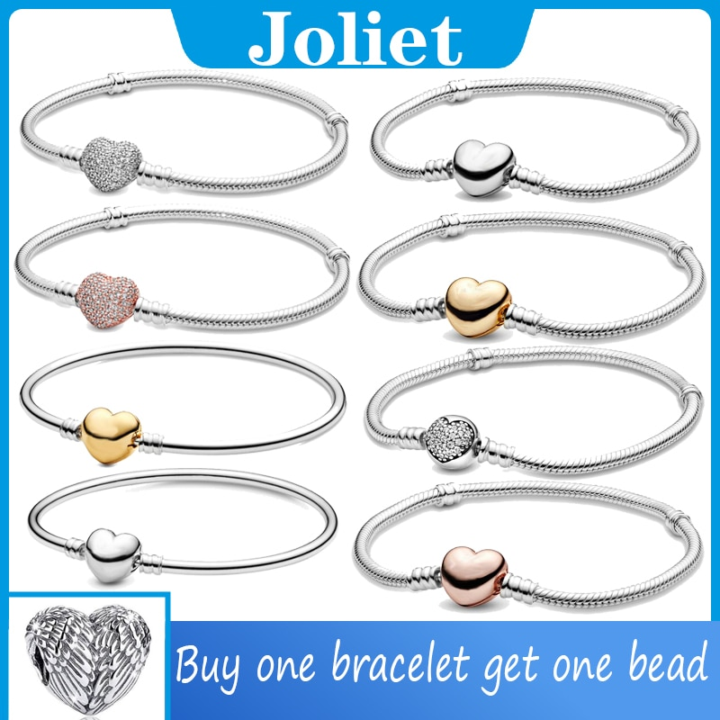 Hot Sale 100% Real 925 Sterling Silver pando Bracelet Fit Original LOVE Snake Charms Bangle DIY high