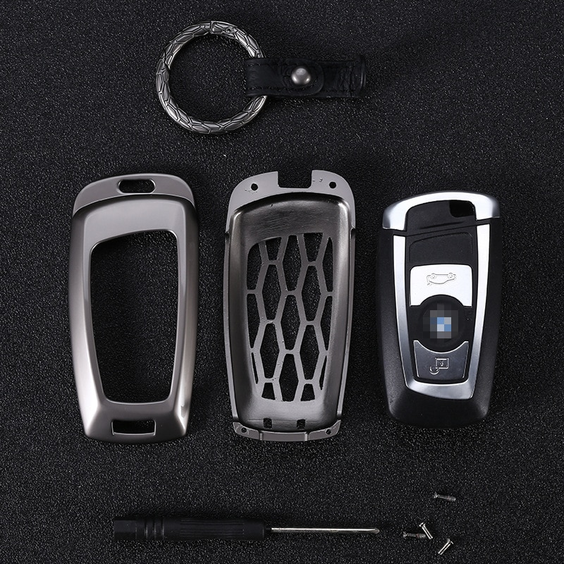 Zinc alloy Key Cover for BMW 5 X1 M1 GT F07 F10 F11 520 525 520I 530D E34 E46 E60 E70 Remote Case Chain Shell Key chain Key bag