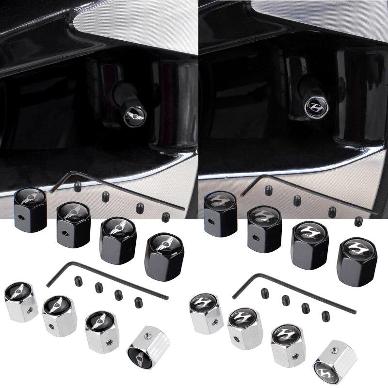 Auto Rad Anti-theif Ventil Stem Caps für Hyundai Rohens Limousine Veloster Kona Venue Ioniq I30 Elantra Reifen Luft abdeckung Zubehör