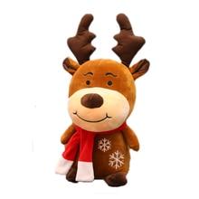 Nouveau cerf de noël doux en peluche renne fourrure cerf décoration de noël pour ornement de maison bonne année cadeau de noël enfants cadeau