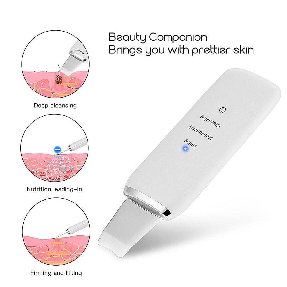 Limpiador Facial ultrasónico limpiador Facial piel recargable Lifting Facial removedor de espinillas exfoliante limpiador de poros limpiador de piel