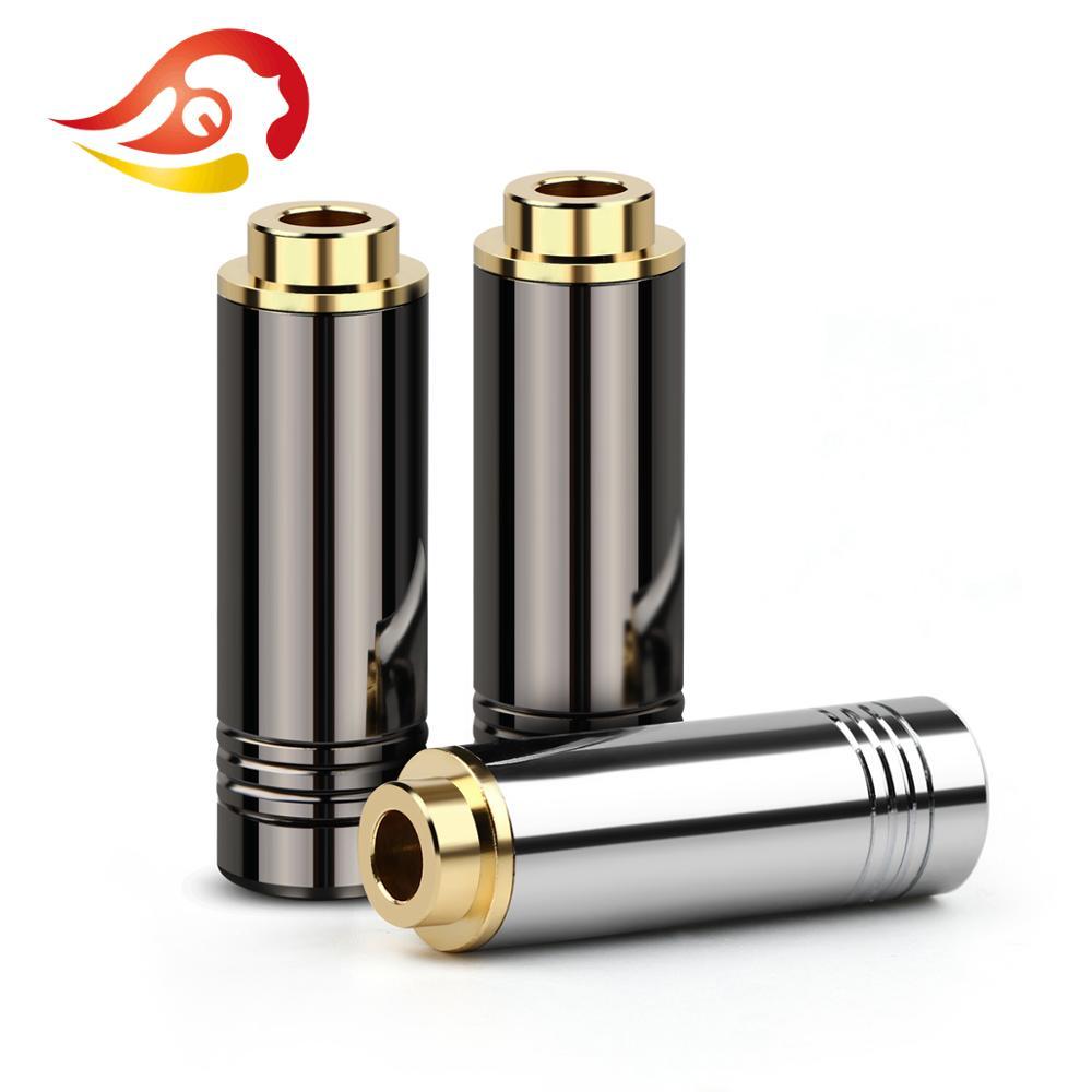 QYFANG 4,4 мм 5-полюсный сбалансированный стерео наушник гнездовой аудио разъем яркий корпус металлический адаптер DIY проводной разъем для наушников