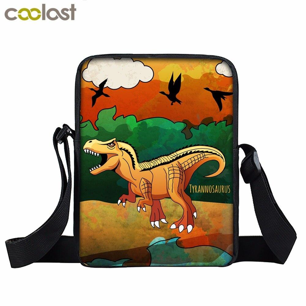 Animal Kids Messenger Bags Dinosaur Painting Handbags Child Shoulder Bag Mini Boys Crossbody Book Bags Men Travel bolso hombre