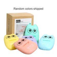Jabón de papel desechable portátil Mini hojas perfumadas de la rebanada con la caja de almacenamiento espuma papel jabón escamas 6 Paquete de Color al azar
