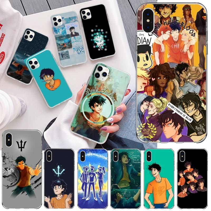 NBDRUICAI película de dibujos animados percy jackson foto personalizada funda de teléfono suave para iPhone 11 pro XS MAX 8 7 6 6S Plus X 5S SE 2020 XR cubierta