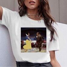 Sombre Neige Blanc Harajuku T-shirt Femmes Ullzang Vintage 90s Esthétique T-shirt Style Coréen T-shirt Mode Graphique Top T-Shirts Femme