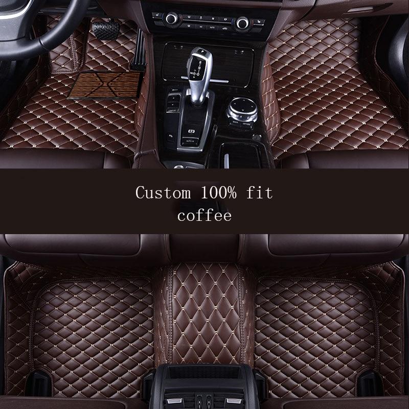 HLFNTF Custom car floor Foot mat For toyota camry 2007 2008 2009 corolla 2011 land cruiser prado 120 prius car accessories