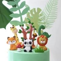 cartoon jungle animal theme birthday party decoration cake decoration animal decoration childrens party supplies