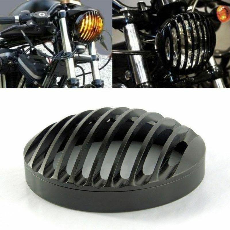 Harley Sportster couverture de gril de phare   Couverture de phare de moto 5 3/4