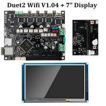 "Duet 2 Wifi V1.04 Moederbord Gekloond Reprap Firmware 32bit Duet2 WiFi Board + 7 ""Touch Screen Controller 3D Printer onderdelen"
