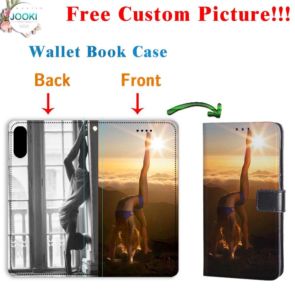 Funda billetera SM-G615F, en Max cuero Folio Flip funda para Samsung Galaxy J7 Max personalizado logotipo personalizado foto teléfono funda