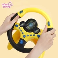 infant shining stroller steering wheel eletric simulation with light sound kids early education steering wheel toys for children