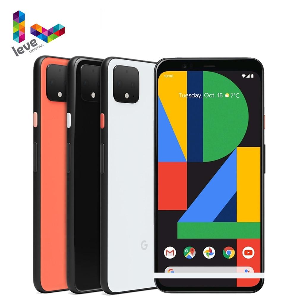 Google Pixel 4 4XL US версия разблокирован мобильный телефон 5,7 дюйм & 6,3дюйм  6 ГБ Оперативная память 64 ГБ и 128 ГБ Встроенная память 16MP Octa Core 4 аппарат не привяза...