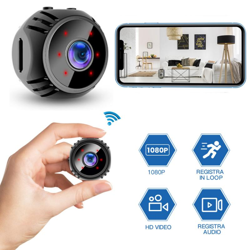 W8 1080P HD Mini Wifi Wireless IP Camera Small Cam Sensor Night Vision Baby Monitor Home Security Cam Motion Recorder Camcorder
