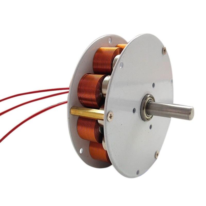 Микро-дисковый генератор с железным сердечником, сильный магнит, низкая скорость, высокая мощность, многополюсный, трехфазный генератор пе...