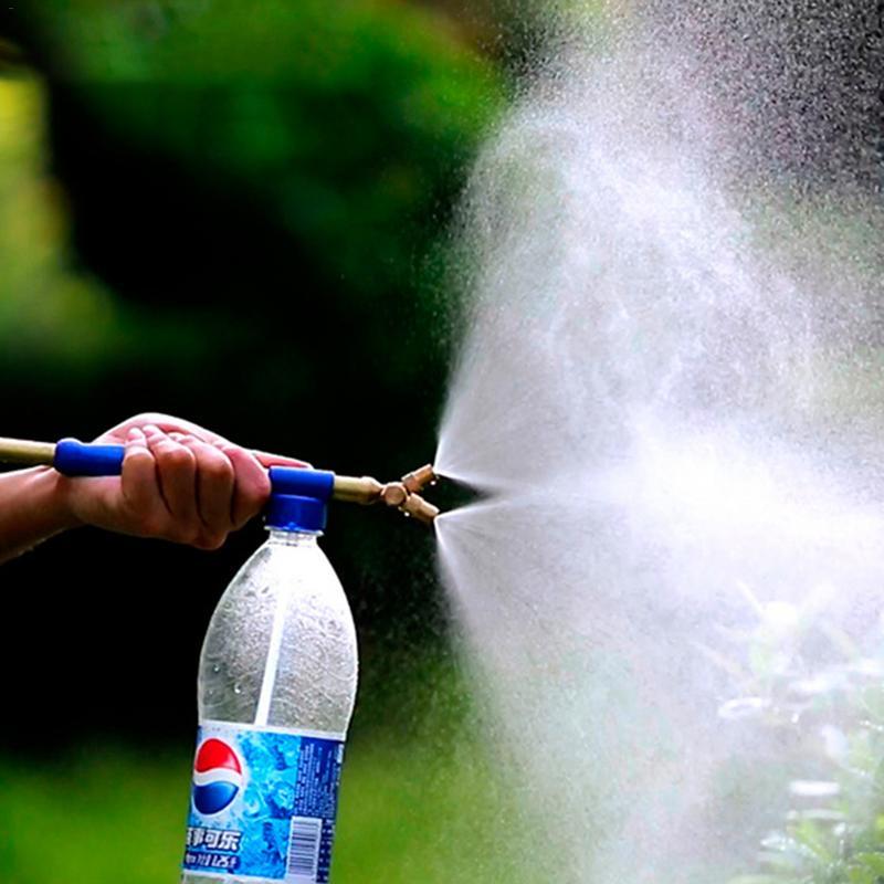 Rociador pequeño neumático de mano de doble cabezal, botella de coque, rociador salvaje, herramienta de irrigación de jardín, bomba de máquina de niebla