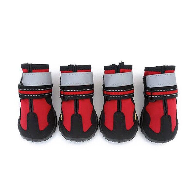 Esportes de Montanha à Prova Botas de Cão Sapatos para Quatro Dwaterproof Água Reflexiva Anti-deslizamento Malha Sapatos Respirável Caminhadas Estações tb Sal