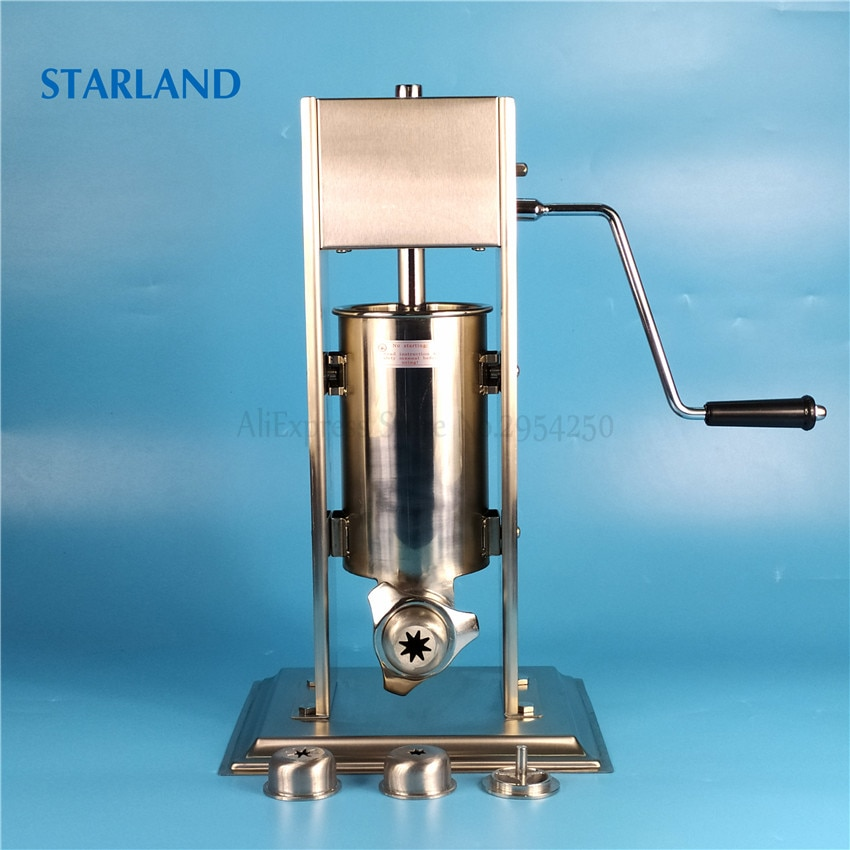 2L Spain Churros Making Machine Stainless Steel Sausage Filler Manual Churro Extruder Commercial/Household Sausage Stuffer hot sale popular 5l commercial spanish churro maker machine with 6l fryer maker churros making machine with ce in high quqlity