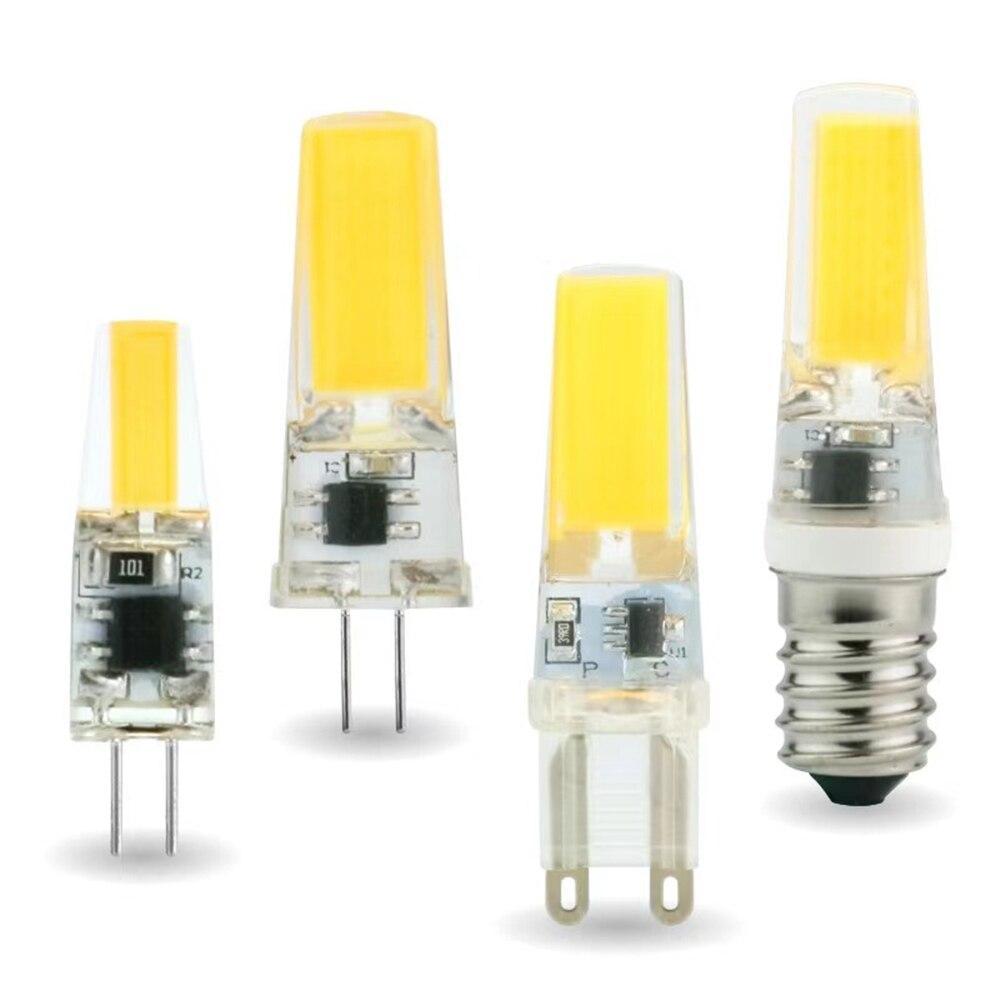 2 шт./лот светодиодная G4 G9 E14 3 Вт 6 Вт Светодиодные лампочки переменного тока/DC 12V 220V Светодиодная лампа COB Светодиодный прожектор люстра замен...