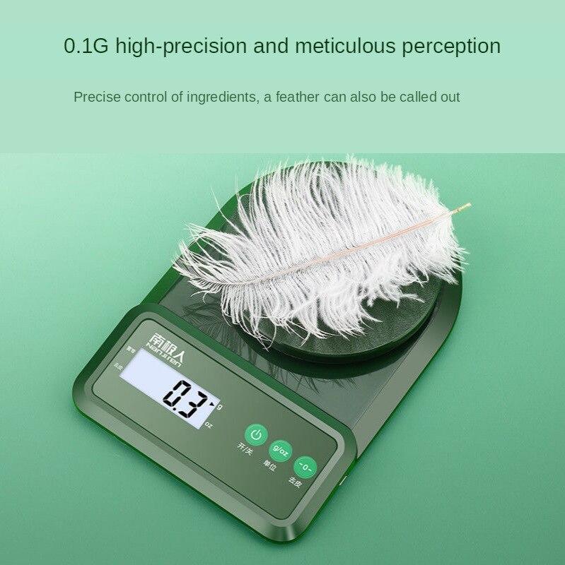 المطبخ ميزان إلكتروني عالية الدقة غرام ميزان القياس مجوهرات الغذاء مقياس دقيق الخبز مقياس المنزلية 1G التوازن 0.1G