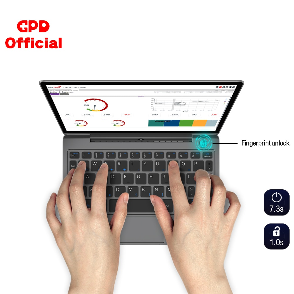Promo GPD P2 Max Gaming Laptop Ultrabook Computer Notebook DDR3 RAM 16GB  SSD 512GB 8.9 Inch 2K Touch Screen Intel Core m3-8100Y
