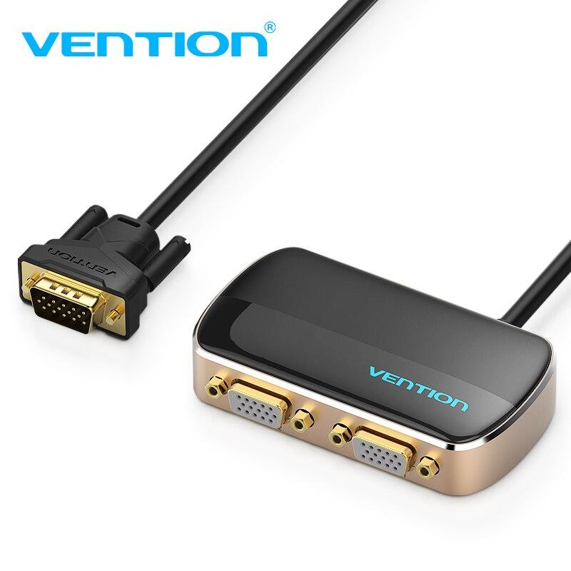 Vention vga interruptor 1 em 2 para fora divisor 1x2 1080 p switcher vga para monitor do projetor cabo vga macho para fêmea interruptor vga