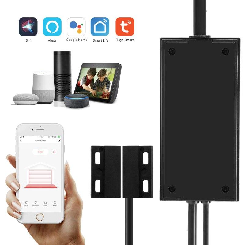 Control inteligente de apertura de puerta de garaje con interruptor WiFi para el Hogar Inteligente con aplicación de Control por voz Alexa Echo Google SmartLife Tuya