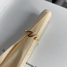 1 pièce INS authentique S925 argent Sterling bijoux fins irrégulier brillant lisse géométrique plus large anneau de bande ajuster TLJ1035