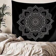 Tapiz de Mandala negro, tapiz de Mandala bohemio, tapiz de pared de mármol gris dorado y azul, tapiz indio bohemio para playa, manta, colchón