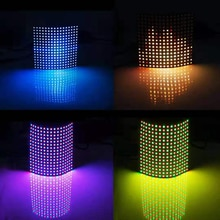 1 pcsDC5V 16x16 12 dot matrix RGB soft screen Pixel WS2812B LED Digital Flexible Individually addressable Panel light H3-007