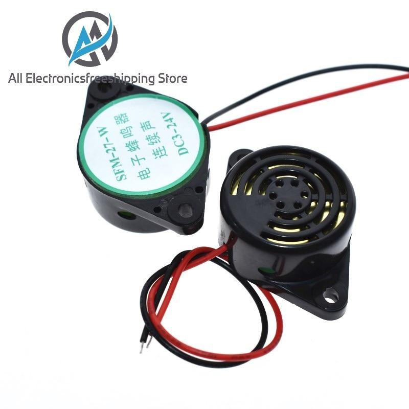 95DB Alarm High-decibel DC 3-24V 12V Electronic Buzzer Beep Alarm Intermittent Continuous Beep for Arduino Car Van SFM-27