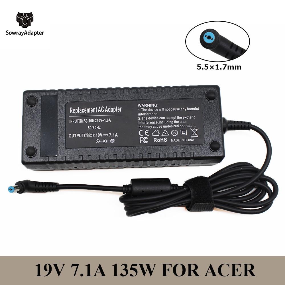 19v 7.1a 5.5*1.7mm 135w ac carregador do portátil para acer aspire v17 nitro liteon ADP-135KB PA-1131-16 VN7-792G-59CL vx15 VX5-591G