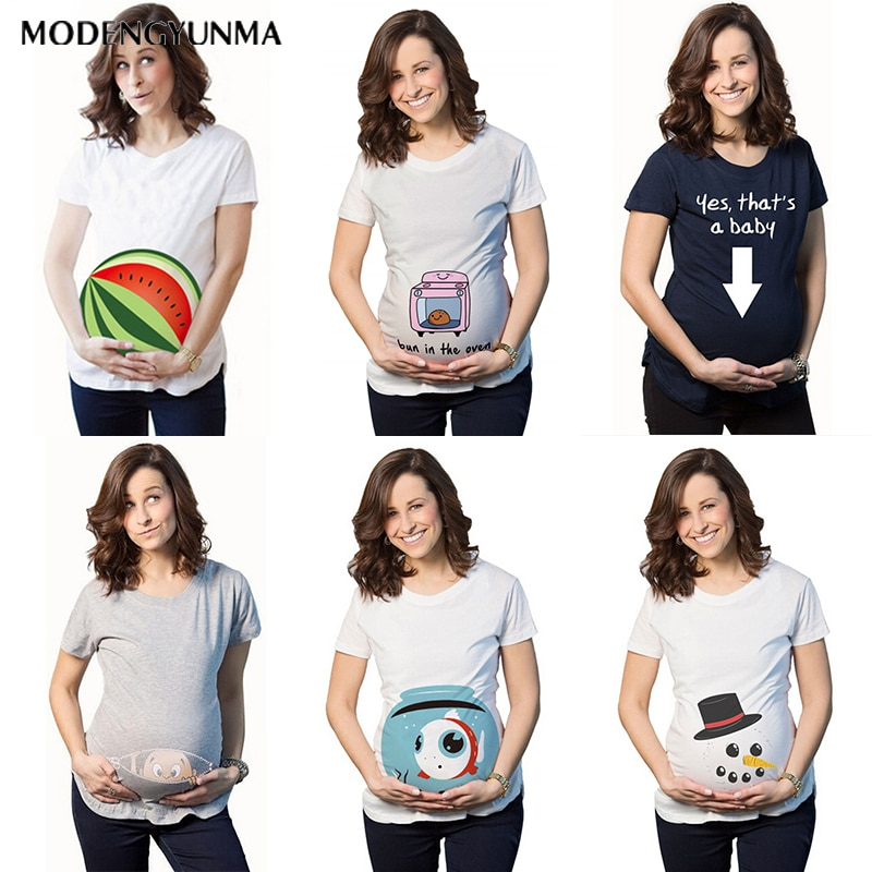 Maternity T-shirt 2021 New Clothing Breastfeeding Clothes Watermelon Printing Pregnant Cotton Fashion
