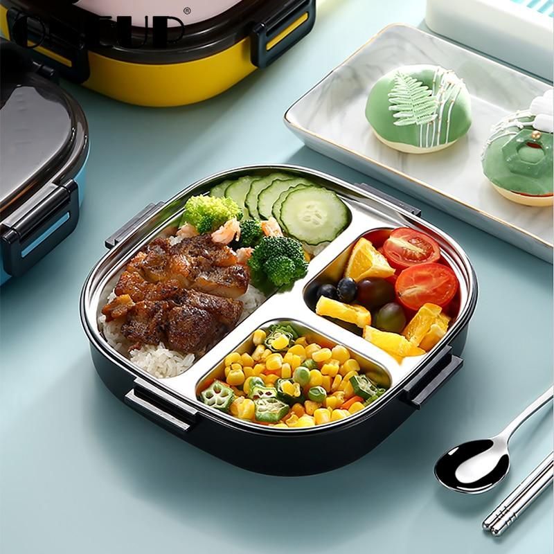 ONEUP fiambrera de acero inoxidable para contenedor de comida para niños, accesorios de cocina con calefacción térmica, caja Bento para comida