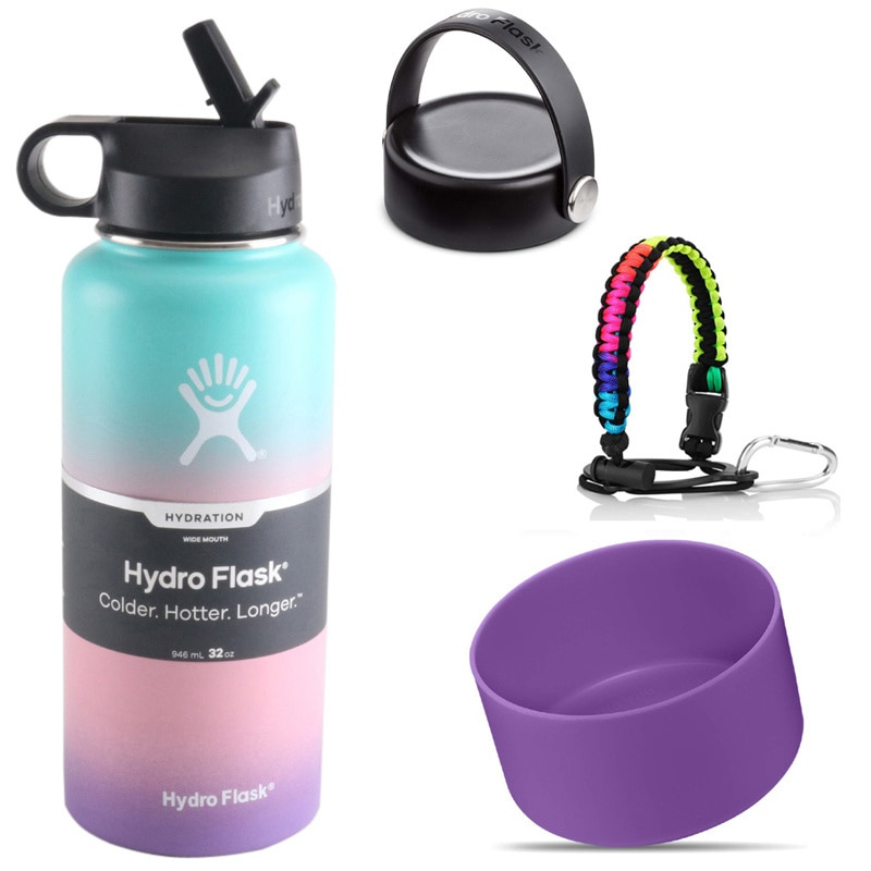 18oz 32oz 40oz Hydro Water Bottle Flask Vacuum Insulated Wide Mouth Stainless Steel Water Bottle Wit