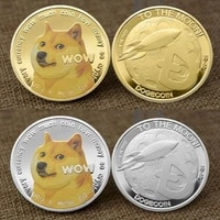 goldsilver plated commemorative coin dogecoin doge coin color three dimensional relief medallion badge virtual coin souvenir