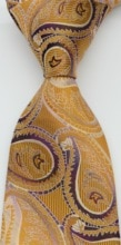 Cravate pour hommes   Cravate Paisley, soie, marron, violet, Jacquard tissé, fête de mariage, stylistes de mode