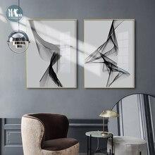 Nordic Black White art wall art Canvas Painting poster stampe linea astratta immagine per soggiorno Morden home decor No Frame