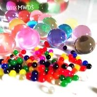 Boules deau de sol en cristal Orbiz  perles deau de culture polymere 12 colorees  decoration pour mariage ou maison  13000 pieces sachet
